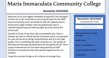 MICC Newsletter 2019-2020