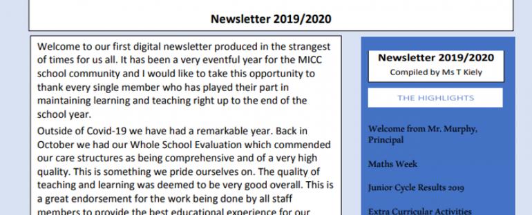 MICC Newsletter 2019-2020