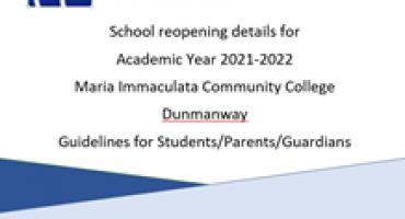 Reopening Information 2021-2022